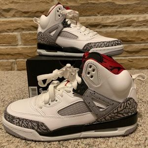 Nike Air Jordan Spizike White Cement Sz 5y In Box